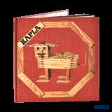 Kapla Buch Nr.1, rot, Tiere und Konstruktionen